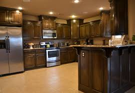 kitchen cabinet dark cabinets and countertops drawer pulls
