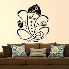 Buy Decals Design Pious Lord Ganesha Wall Sticker PVC Vinyl - Wall design decals