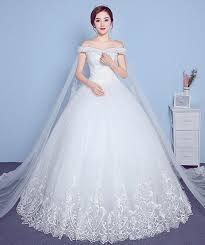 wedding dress korea wedding dress 2018 new winter one word shoulder korean