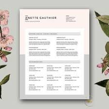 creative resume template and cover letter von botanicapaperieshop