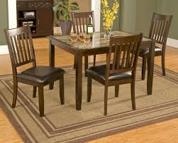 alpine 5 piece dinette set w marble top table capitola al553