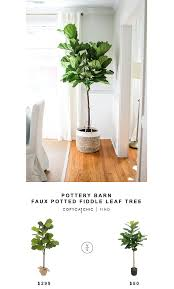 pottery barn faux potted fiddle leaf tree copy cat chic fiddle