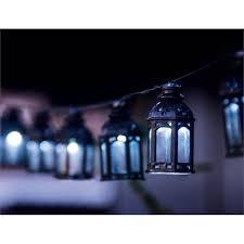 Solar Outdoor Lantern Lights - light solar string eden 20 led solar moroccan lantern string