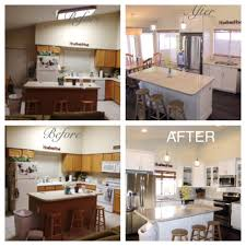 Benjamin Moore White Dove Kitchen Cabinets Remodeled Kitchen Before And After Tear Out Soffits Walls