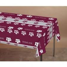maroon plastic table covers save 1 39 on creative converting texas a and m aggies plastic