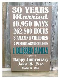 30 year anniversary gifts personalized wedding anniversary gifts for parents best 25