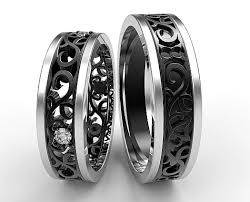 matching titanium wedding bands unique matching wedding bands his and hers vidar jewelry