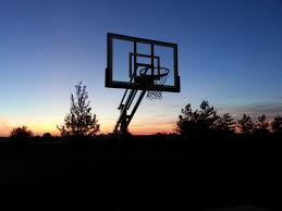 pro dunk silver basketball system from bloomington basketball