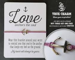 Quot Love Anchors The Soul - valentine bracelet love jewelry valentines day gift