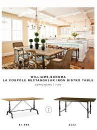 Iron Bistro Table Williams Sonoma La Coupole Rectangular Iron Bistro Table Copycatchic