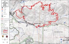 Wildfire Map National by Updates On South Fork Fire In Yosemite National Park For Monday