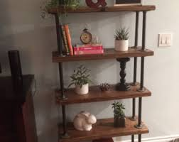 Industrial Pipe Bookcase Industrial Bookcase Etsy