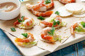 feed a crowd with bite sized prawn cocktail canapes crisp fresh