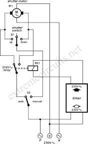 rolling shutter motor control circuit diagram