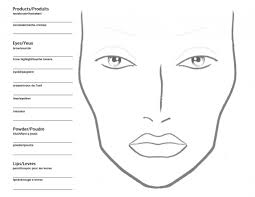 face sketch makeup blank face chart sketch coloring page