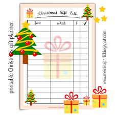free printable christmas gift list ausdruckbare geschenkliste