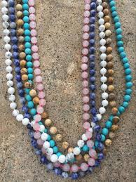 natural beads necklace images 10mm round natural wood beads tassel pendant long chain tiered jpg