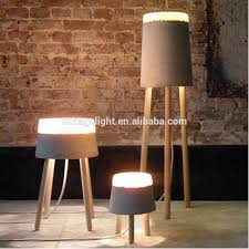 industrial concrete table lamp modern concrete with wood desk lamp