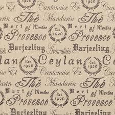 Designer Upholstery Fabrics Grey Vintage Script Linen Woven Designer Upholstery Fabric By The
