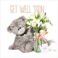 feel better bears 3d holographic get well soon me to you card 2 99 tattered