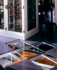 glass raised access floor indoor for ventilation lumen