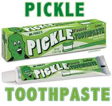 pickle candy pickle flavor toothpaste dill flavored tooth paste