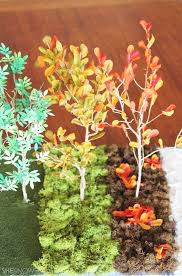 step by step tutorial for an autumn leaves diorama