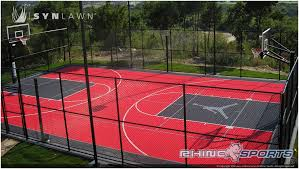 backyards ergonomic backyard sport court 8 how much does a