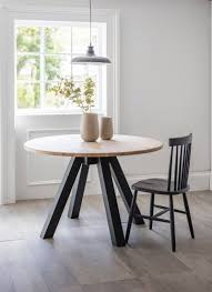 Oak Top Dining Table Clockhouse Dining Table With Carbon Legs Oak Garden Trading