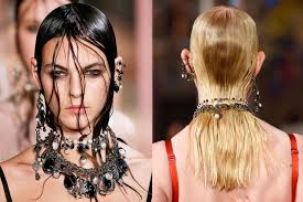 long hair style showing ears spring hair trends 2018 spring and summer hairstyles from nyfw