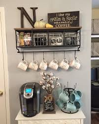 Coffee Kitchen Decor Ideas Image62 Coffee Bar Decor Counter A Sheet Of Scrap Wood I Dressed