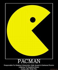 Pac Man Meme - pacman ugly monster vintage video games propaganda poster retro