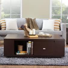 furniture of america crete vintage walnut coffee table furniture of america farlah contemporary walnut storage coffee table