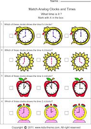 kindergarten time worksheets worksheets