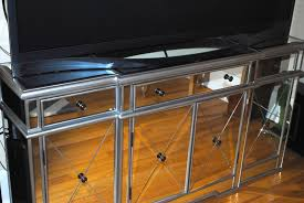 long mirrored tv console table with drawer and cabinet with door ideas