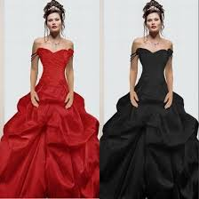aliexpress com buy 2017 red black gothic wedding dresses