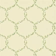 cream olive green 212010 fleur trellis sanderson maycott