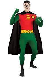 2nd skin robin costume superhero fancy dress escapade uk