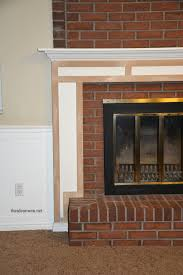 How To Lay Brick Fireplace by Diy Fireplace Mantel The Idea Room