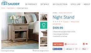 Sauder Nightstand Oak Sauder Gorgeous Thrifty Furniture Cheap Is The New Classy
