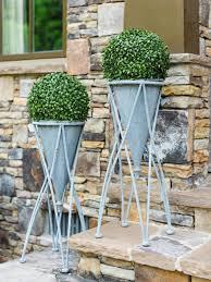 Balcony Planter Box by Backyard Patio Sidewalk Slab Coco Hanging Basket Square Cedar