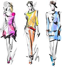 hand drawn fashionable dress vector 2 eps format free vector