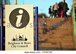 brighton u0026 hove city council information sign stock photo royalty