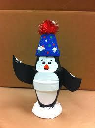 snowy penguin by amy hartman a c moore manahawkin nj claypot