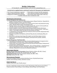 Assistant Manager Job Description For Resume by Property Manager Job Description Assistant Property Manager Cover