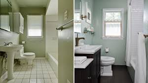 Cheap Bathroom Tile by Elegant Painting Bathroom Tile Before And After Home Design