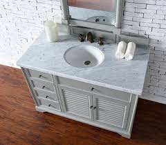 Cottage Bathroom Vanity Cabinets by Abstron 48 Inch Grey Finish Single Cottage Bathroom Vanity