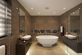 Contemporary Tile Bathroom White Mosaic Tile Bathroom Contemporary With Above Counter Sink