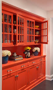 Kitchen Cabinet Knob Placement Buffet Hutch In Dining Room Eclectic With Wall Color With Red