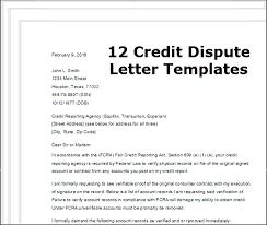 templates for credit dispute letters special credit bureau